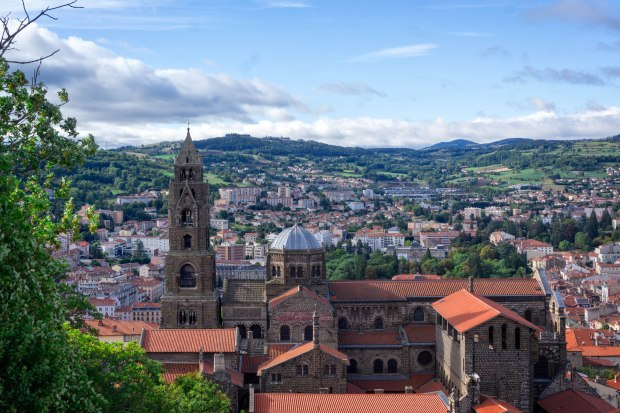 La Cathédrale Notre Dame du Puy is a Roman Catholic cathedral, and a national monument of France.  It has been a centre of pilgrimage in its own right since before the time of Charlemagne.