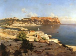 Joseph Garibaldi, Vue de Cassis vers le Cap, 1897