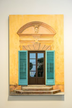 Tom Fawkes, Porta--Villa Pietra, 2017 acrylic on wood contstruction.