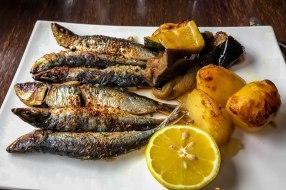 plat du jour: sardines grillés aux fines herbs