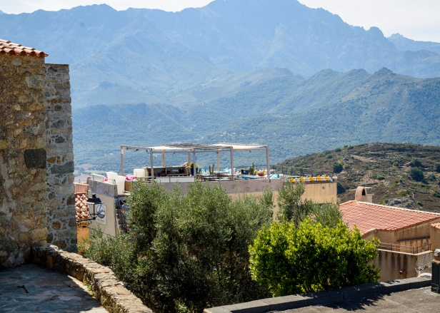 Restaurant I Scalini boasts a 360 degree view of the Balagne.